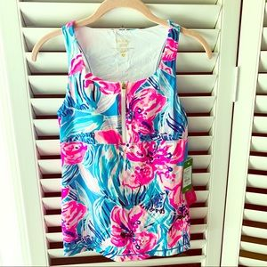 Lilly Pulitzer workout top with built in bra